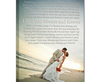 Personalized Wedding Photo canvas Art Personalized Unique gift for Him or Her 18X24