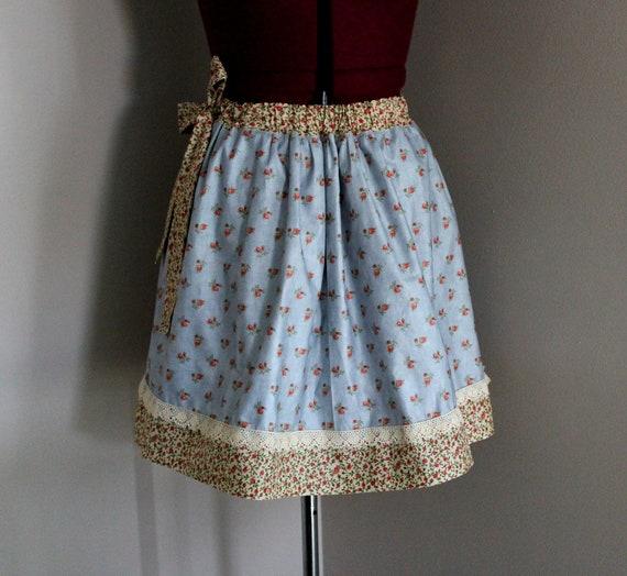 Shabby Chic Skirt, Calico Skirt, Womens Skirts, Apron Skirt, Prairie Skirt