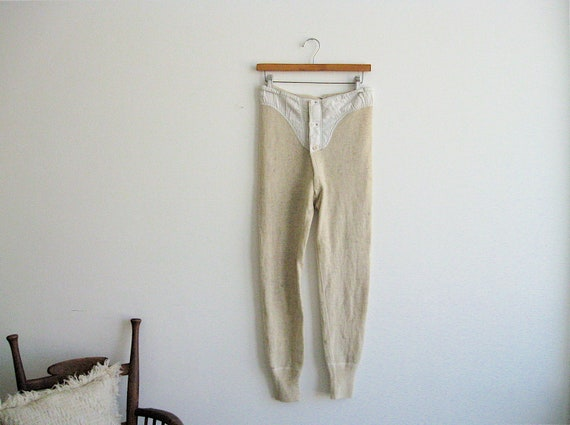 1920s Heathered Wool Knit Leggings. Historic Americana.