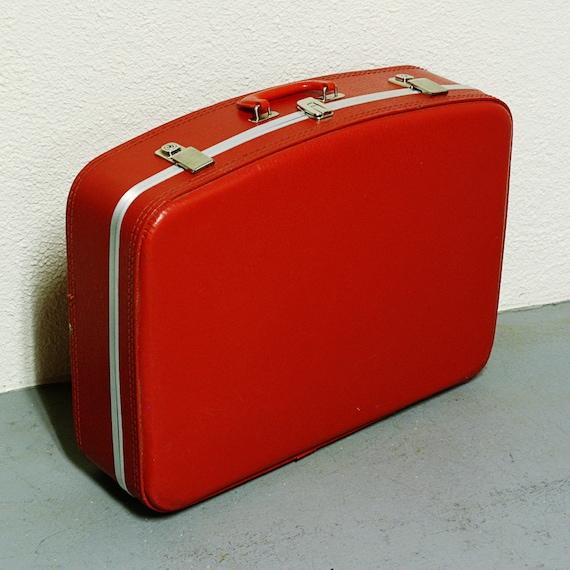Vintage suitcase - red - luggage - large size