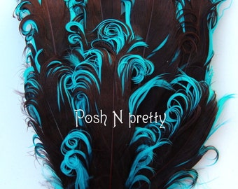 2 pieces Premium 2 PLY Chocolate/Brown Nagorie Feather pad