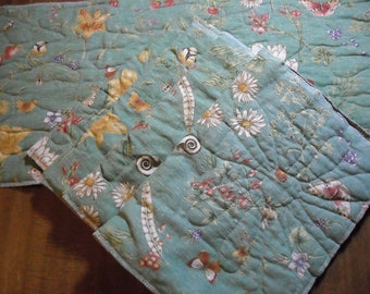 Quilted Floral Country Cottage table runner & 4 place mats