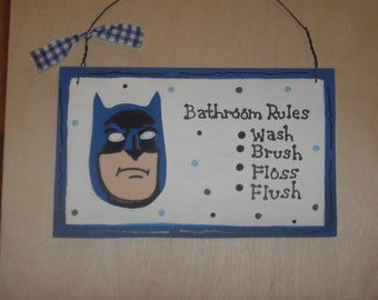 Batman Bathroom Wall Hanging