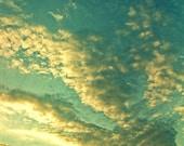 nursery art, print, blue sky photo, happy, get well, summer, egg blue, white, simple, summer sky, 8x8 fine art photograph