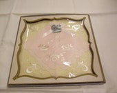 delicate pink and yellow vintage hankies