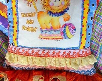 Mc Lion Baby Nursery Pillow by Rosanna Hope for Baby Bonbons