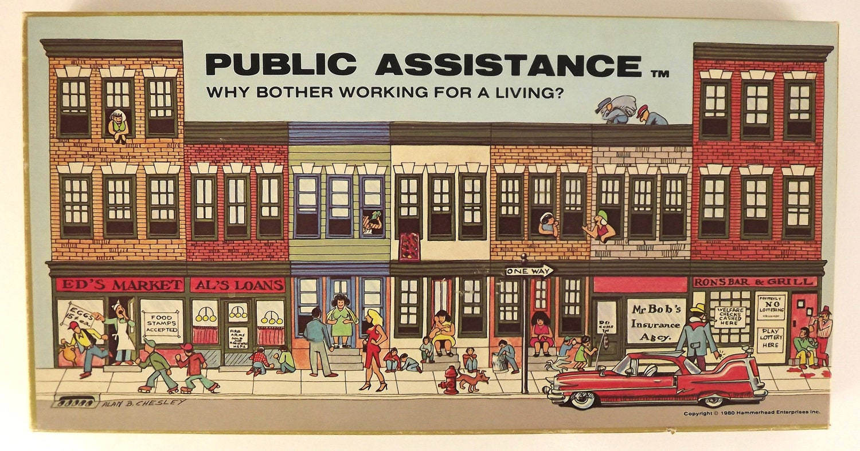 RESERVED Vintage 80's Board Game Public Assistance