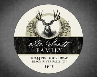 Personalized Return Address Label Sticker - Deer