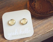 jonquil yellow dew drop earrings by yeahhello