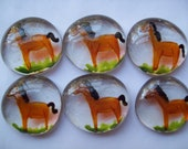 Hand painted large glass gems party favors Horses Horse  mini art