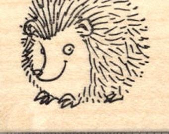Hedgehog Rubber Stamp D20021 - Wood Mounted