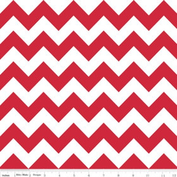 Available Today - Riley Blake Design Chevron Red - 1 Yard Listing