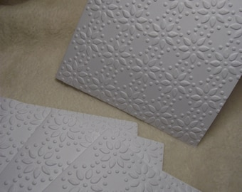 Christmas Cards...5 Sets of Very Beautiful and Elegant Poinsettias Embossed Note Cards and Envelopes