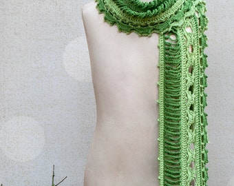 CROCHET PATTERN Dryad Crocheted Scarf Sizes Kids to Adult  ebook PDF