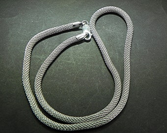 20 inch Sterling silver Mesh Necklace chain 4mm