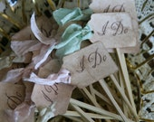 WEDDING CUPCAKE TOPPER -  custom listing for Lindsay