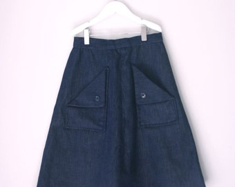 Vintage denim skirt for a teen gal