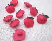 10 Cute Apple Shank Buttons