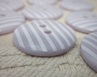10 Candy Striped Lilac Buttons