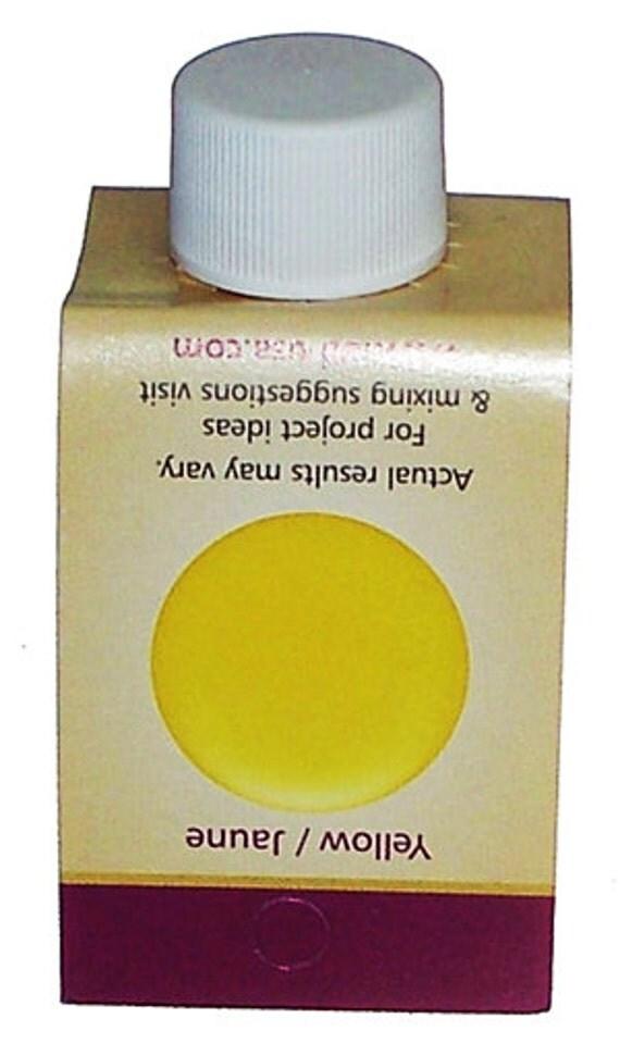 Opaque yellow resin pigment colorant liquid castincraft for Castin craft resin dye