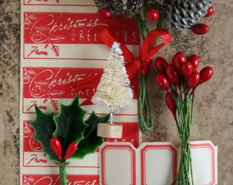 Christmas Greetings Little Gift Wrapping Kit