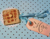 Waffle Christmas Ornament or Holiday Gift Tag