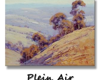PLEIN AIR OIL Painting Farm House impressionist landscape Fine art by G. Gercken