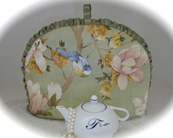 Blue Bird of Happiness Silk Screen  Insulated Tea Cozy for your Pot of Tea
