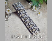 Peyote Beading Pattern : Art Deco Design Bracelet Cuff - Instant Download