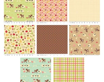 Farm Fresh Fabric by Riley Blake - 1/2 Yard Bundle - Sale - Last One