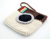 Crocheted Instagram Mini Bag. Purse. Pouch.