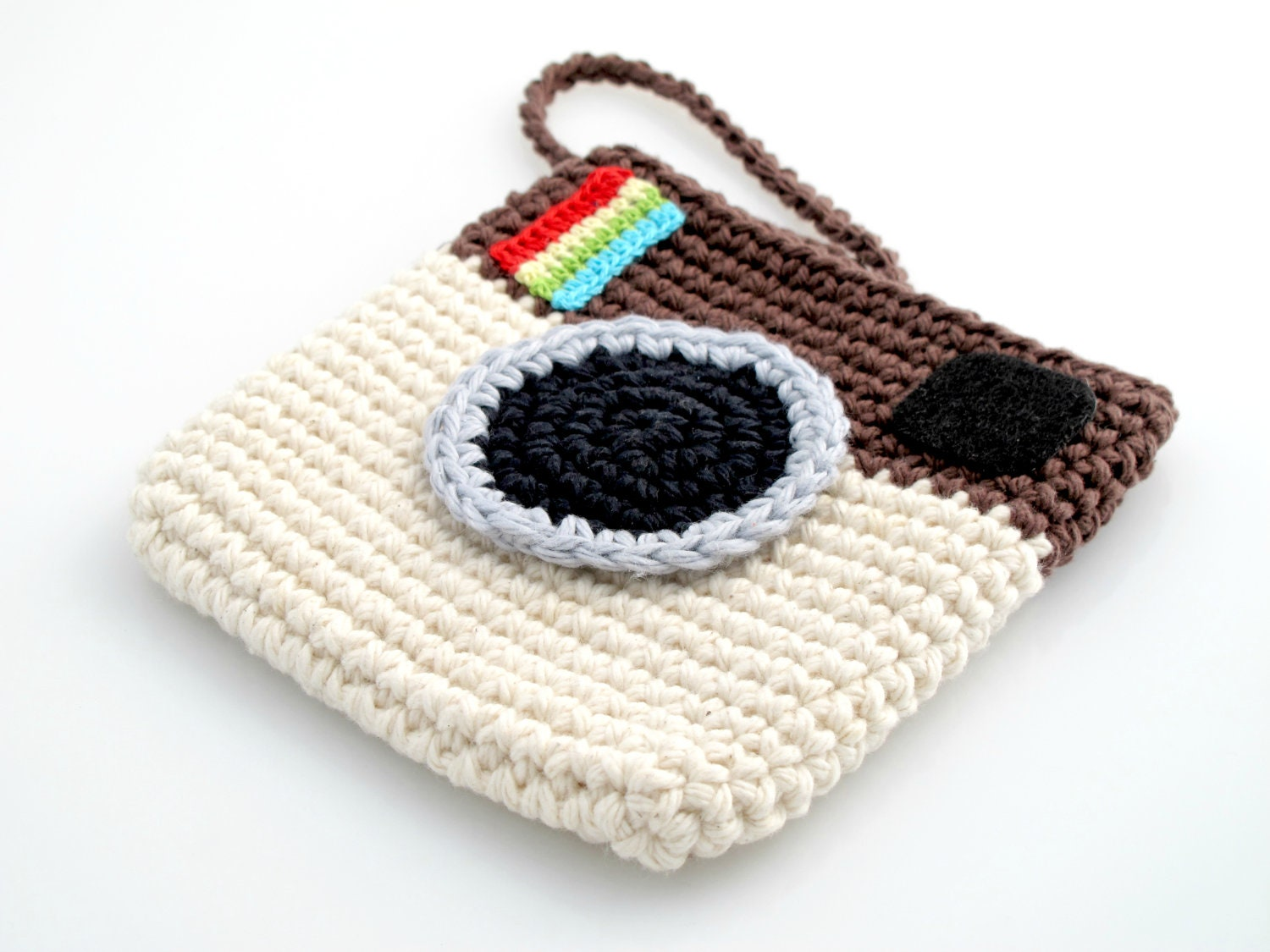 Mini Crochet Bag : Crocheted Instagram Mini Bag. Purse. Pouch. by EuniceNeedlecraft