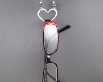 Eye Glasses Holder Necklace, Sun Glasses Holder, Glasses Holder, Silver Eye Glasses Holder, Eye Glasses Holder
