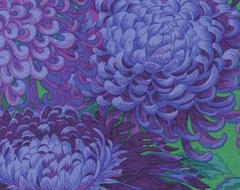 Kaffe Fassett Japanese Chrysanthemum Purple Flower Fabric 1 yard