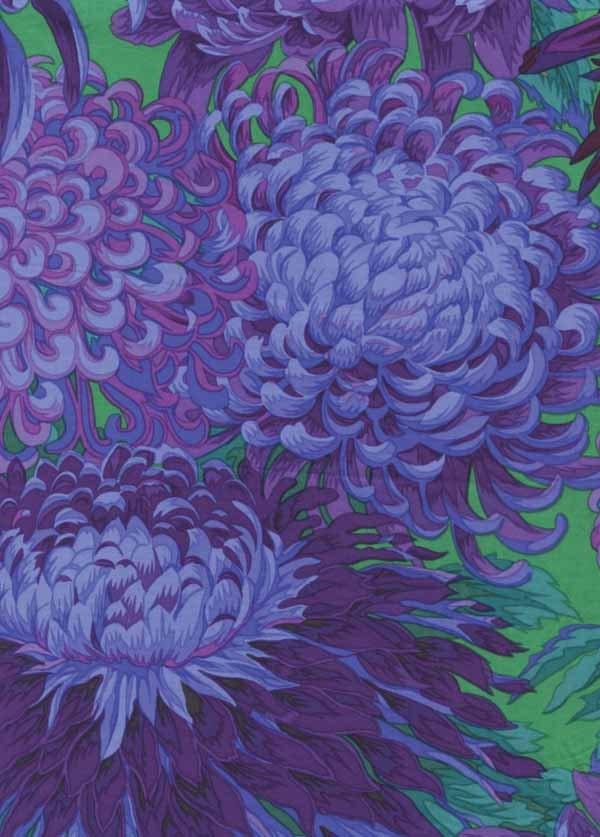 Kaffe Fassett Japanese Chrysanthemum Purple Flower Fabric 31