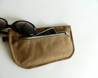 SALE SALE SALE  20% Sale - // D- Pouch in Sahara  // Wallet / clutch / cosmetic bag / iphone case / travel / Women / Pouch