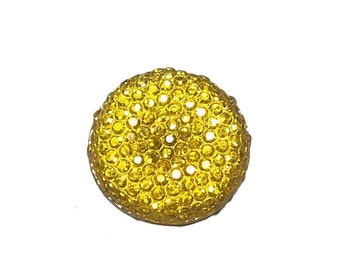 20mm round and sparkly cabochon in Sunflower