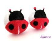 Red ladybug earrings - Red ladybug earrings - Ladybug stud earrings - Ladybug studs - Ladybug posts - Ladybug post earrings sf925