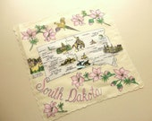 vintage south dakota novelty souvenir hanky