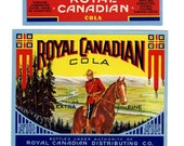 4 Different Royal Canadian Soda labels