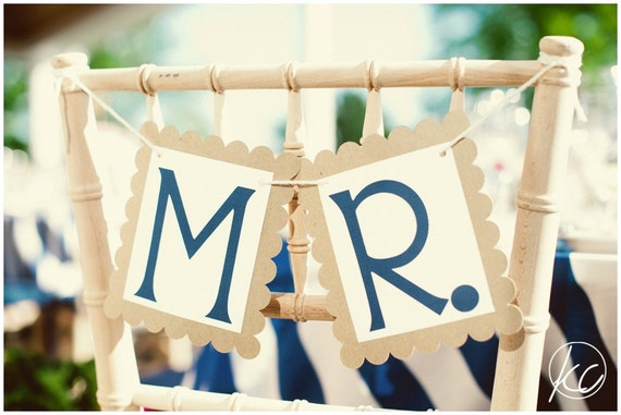 Mr. and Mrs. Wedding Signs - Custom