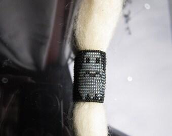 ghost Dreadlock cuff  Halloween bead for your dreadlocks