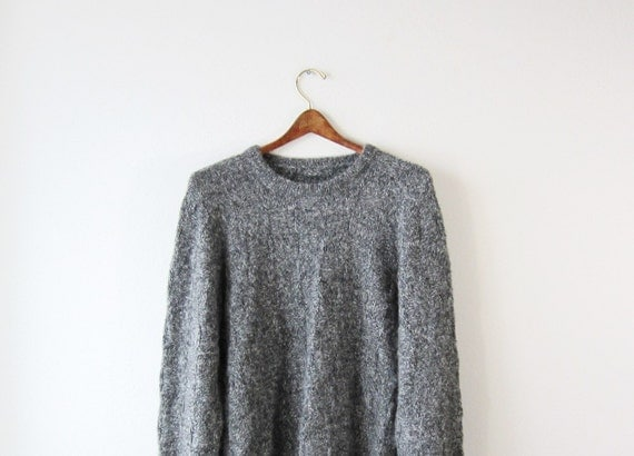 1980s Soft Woven Round Neck Sweater Size Small