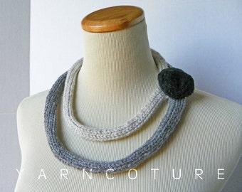 Madame VP - Fiber Art Statement Necklace