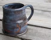 Deep Blue Hand-thrown Stoneware Mug