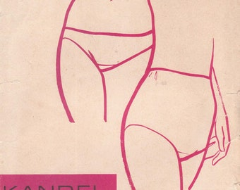 Vintage 1971 Misses Panties and Bikini Style Panties Size 4-9 Kandel Knits 206 UNCUT Sewing Pattern Panty 1970s 70s