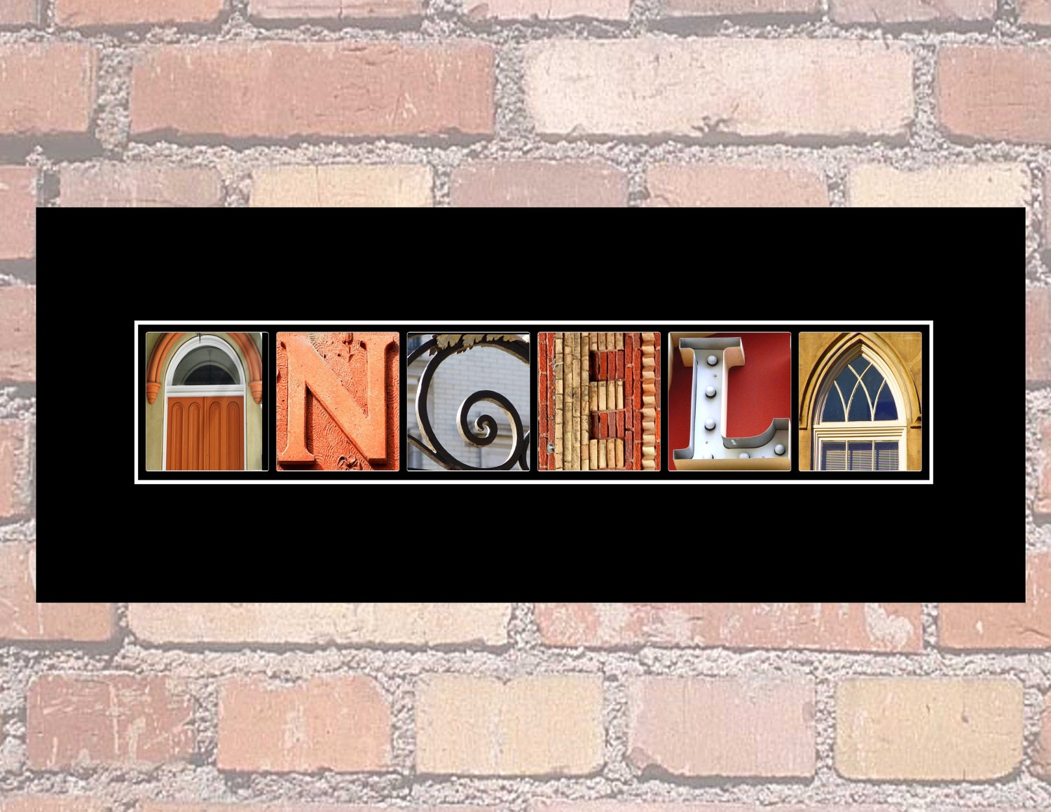 Personalized alphabet photography name art custom by for Custom letter art