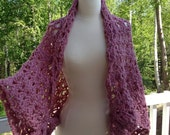 Crochet pattern Capelet Sweater or Poncho...Wrap, Bolero...Morning Glory...Easy