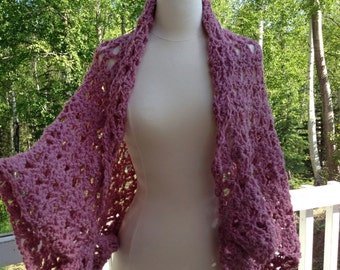 Crochet pattern Capelet Sweater or Poncho...Wrap, Bolero...Morning Glory...Easy