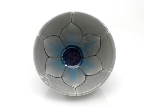 Blue and Grey Lotus Bowl Soup or Cereal Size